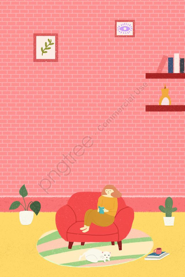 新鮮な絵本を読む, ピンク, ベッドルーム, 地図 llustration image