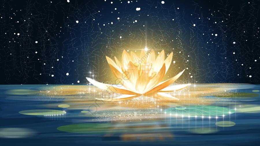 川の光のロマンチックな夢のファンタジーの背景, 星空, ミラージュ, 星空の背景 llustration image