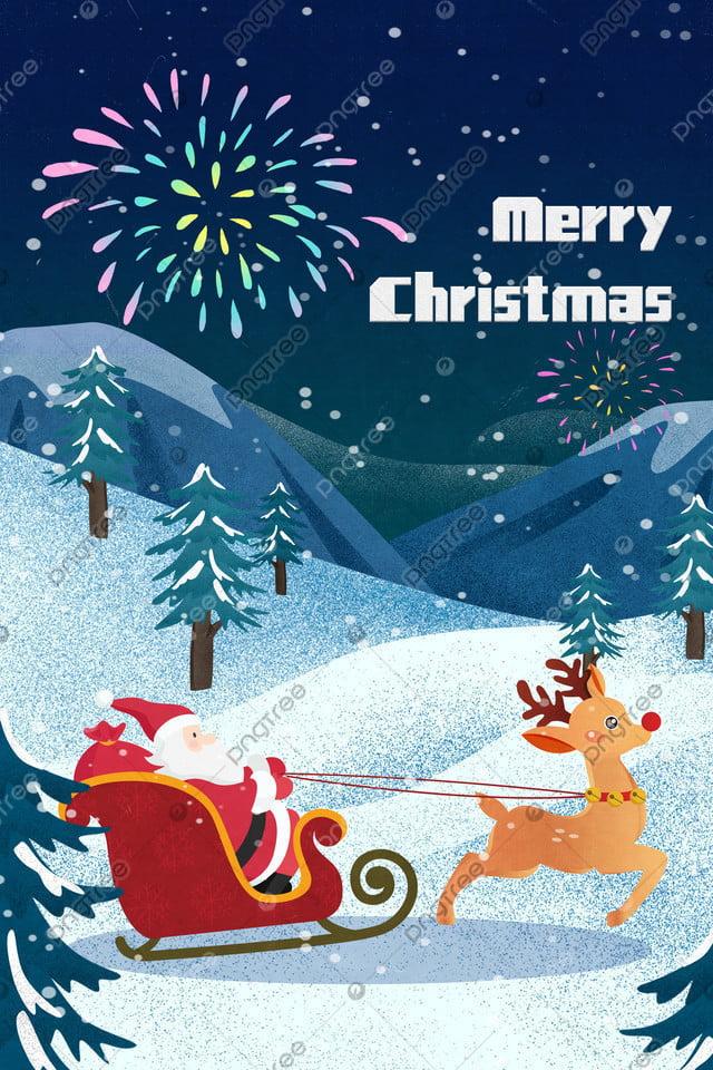 سانتا كلوز الأيائل مزلجة الثلج, المثال التوضيحي, سانتا كلوز, الك llustration image