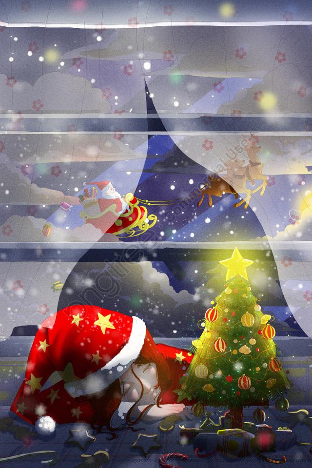 Santa، Claus، الرنة، اّطفال، تصوير، Christmas, ليلة عيد الميلاد, عيد الميلاد, وحيد llustration image