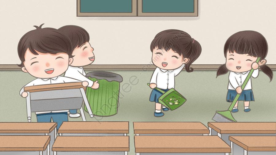 Temporada De Escola Começando Escola Escola Estudante, Limpa, Limpeza, Desenhado llustration image