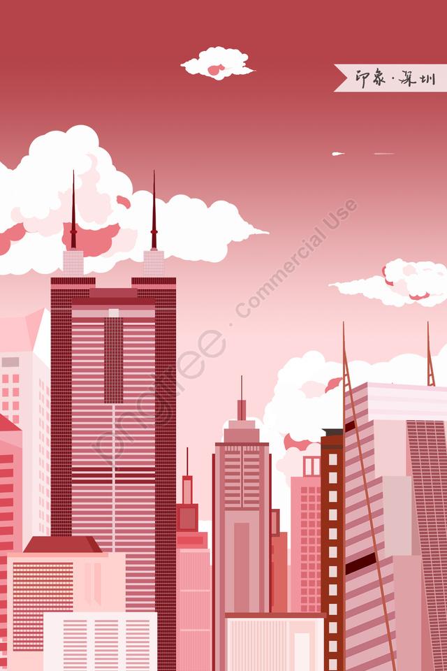 shenzhen diwang building impression landmark building, Landmarks, City Illustration, Skyline llustration image