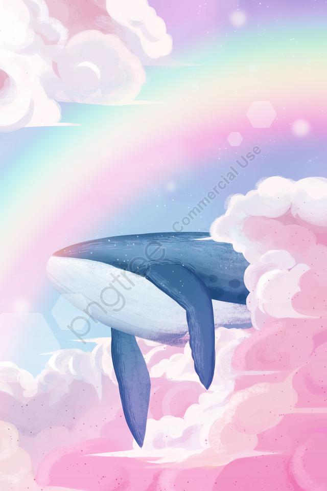 Bầu Trời Cầu Vồng Cá Voi, Những đám Mây, Mơ Tưởng, Phục Hồi Chức Năng llustration image