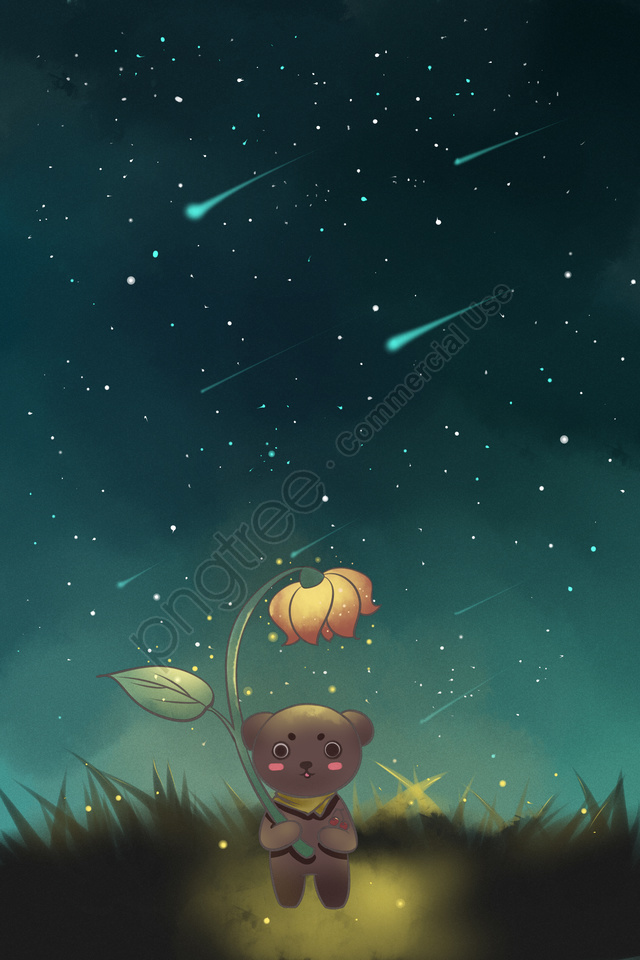 Sky Star Bear Starry Sky, Cloud, Day, Sky llustration image