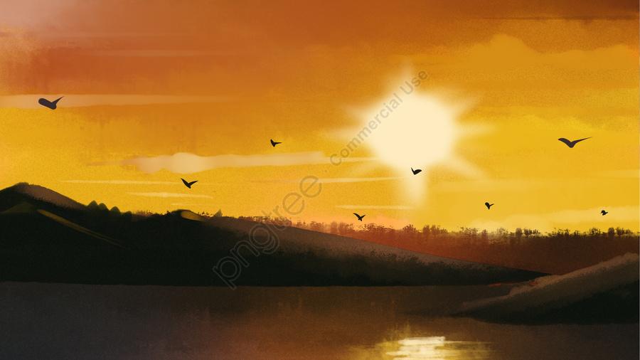 Awan Matahari Terbenam Matahari Terbenam, Seni, Konsep, Menegak llustration image