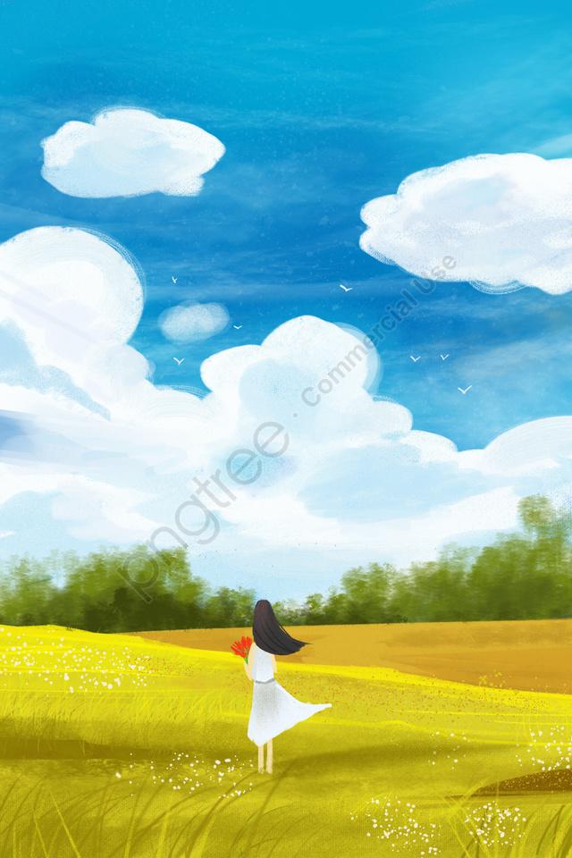 आकाश सफेद बादलों हाथ चित्रित बादल, बादल, हाथ, तैयार llustration image