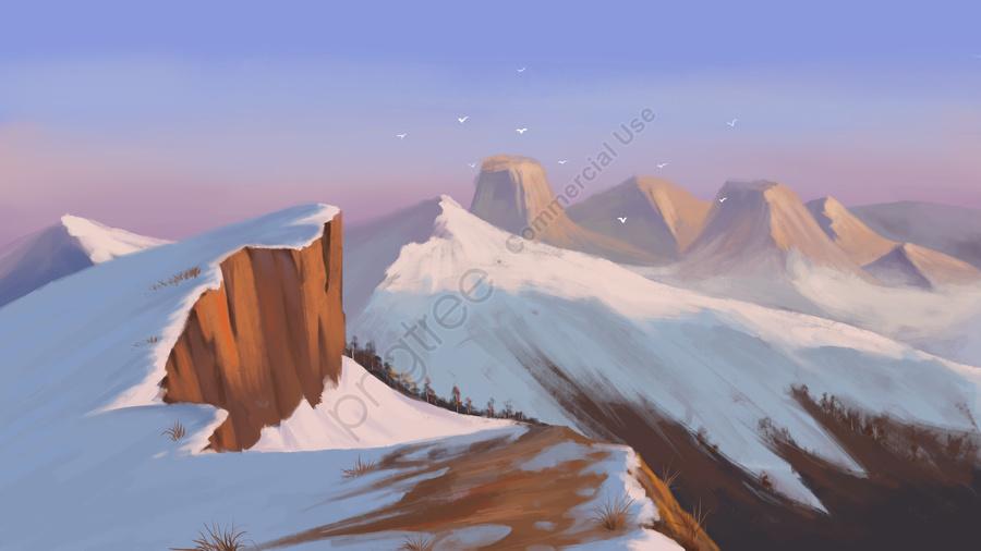 Solar Terms Winter Winter Solstice Snow Mountain, Snow, Snowfall, Solar Terms llustration image