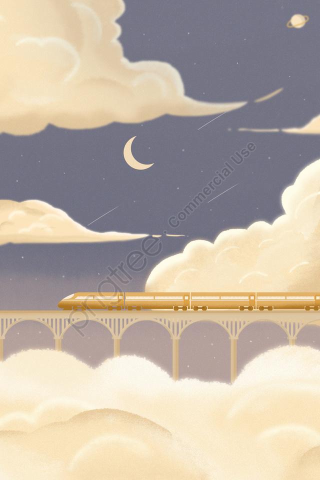 봄 축제 봄 축제 돌아온 집에 구름, 하늘, 꿈, 아물다 llustration image