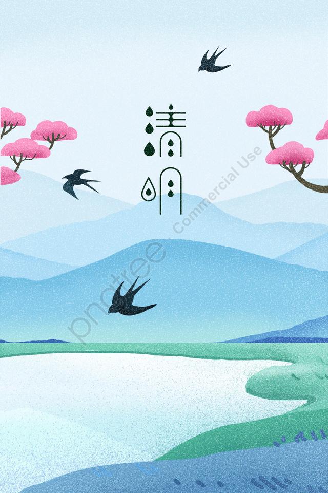 春天的春明風景, 吞, 踏上, 插圖 llustration image