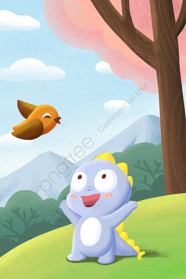वसंत वसंत वसंत विषुव Qingming, कदम पर, पक्षी, सरहद llustration image