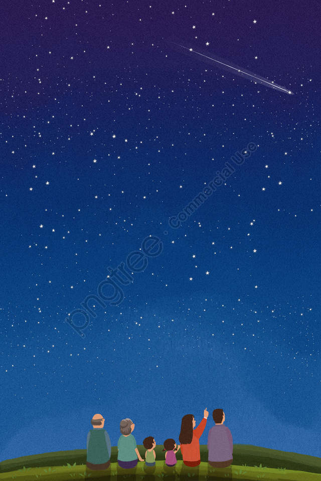 star starry sky meteor night, Củ Hẹ, Thịt, Vẽ Tay llustration image