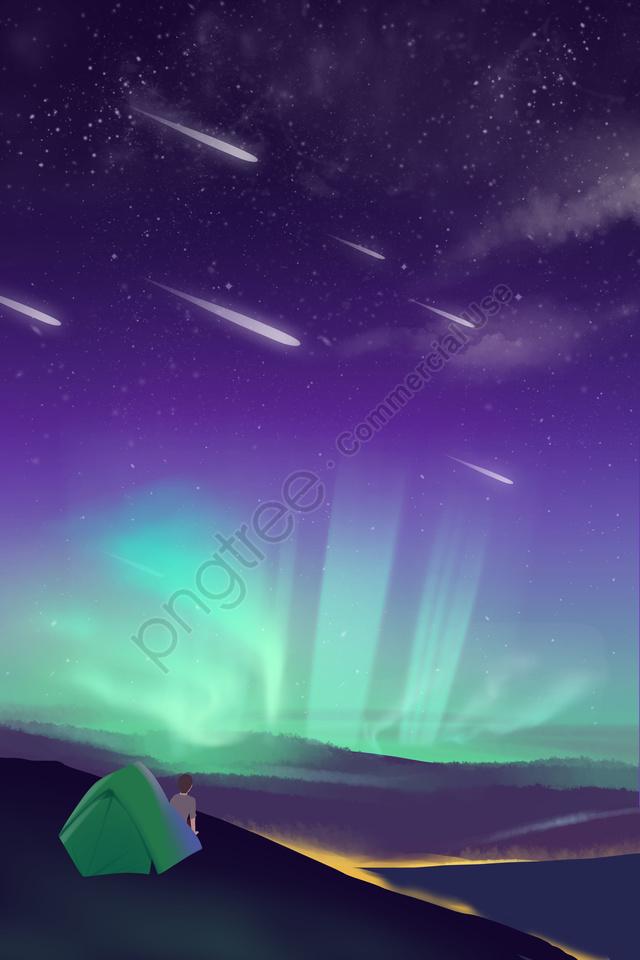तारों से आकाश नीला नीला बैंगनी डेरा डाले हुए, बैंगनी, चित्रण, तारों से आकाश llustration image