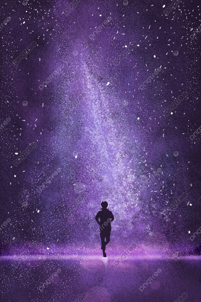 Starry  Beautiful Purple Night, Juvenile, Universe, Dream llustration image