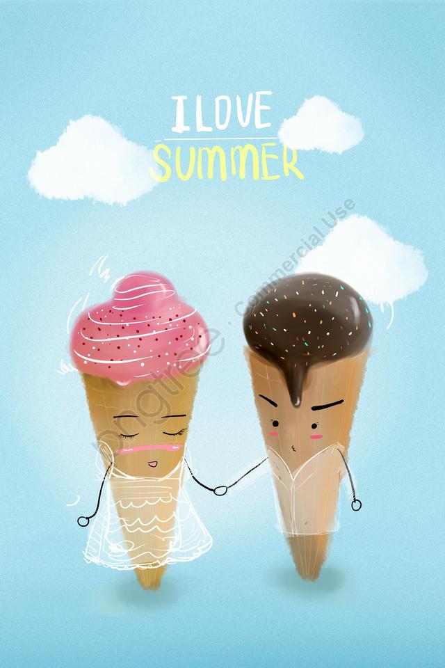夏夏夏アイスクリーム, スイートチューブ, 擬人化, H 5 llustration image