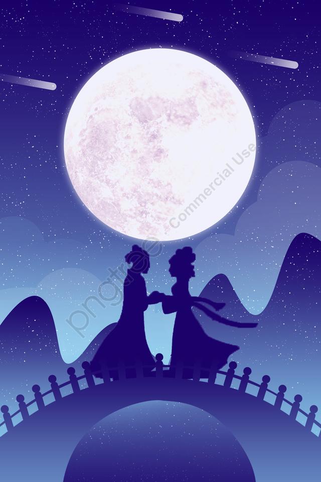 Ilustração Do Tecelão Do Vaqueiro Do Tanabata, Dia Dos Namorados, Gradiente Micro, Ponte llustration image