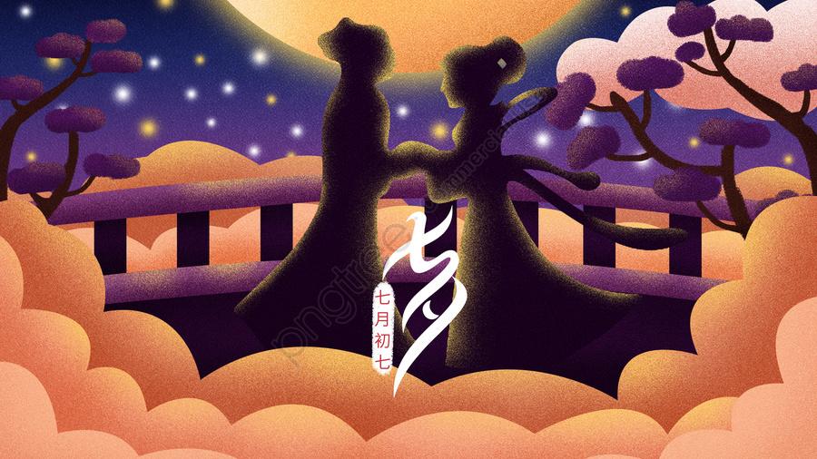 七夕臆病者ウィーバー愛, 互いに愛し合う, 会, ロマンチック llustration image