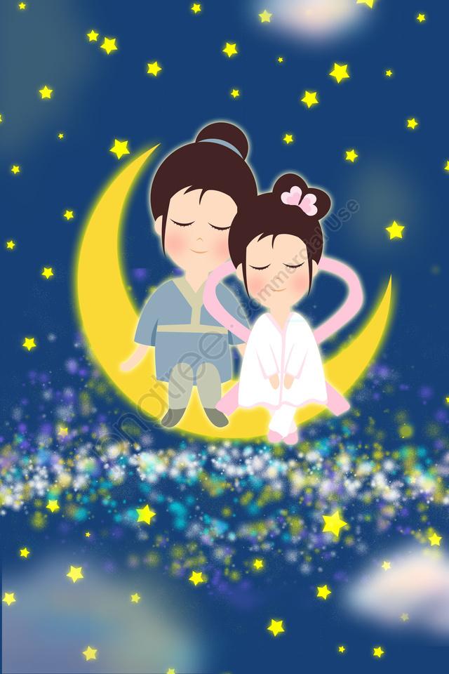 バレンタインデー, 銀河, ムーン, 会 llustration image