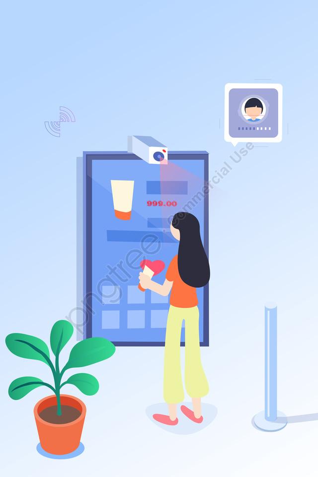 प्रौद्योगिकी कृत्रिम बुद्धि सरल चित्रण, जीवन, दृश्य, ढाल llustration image