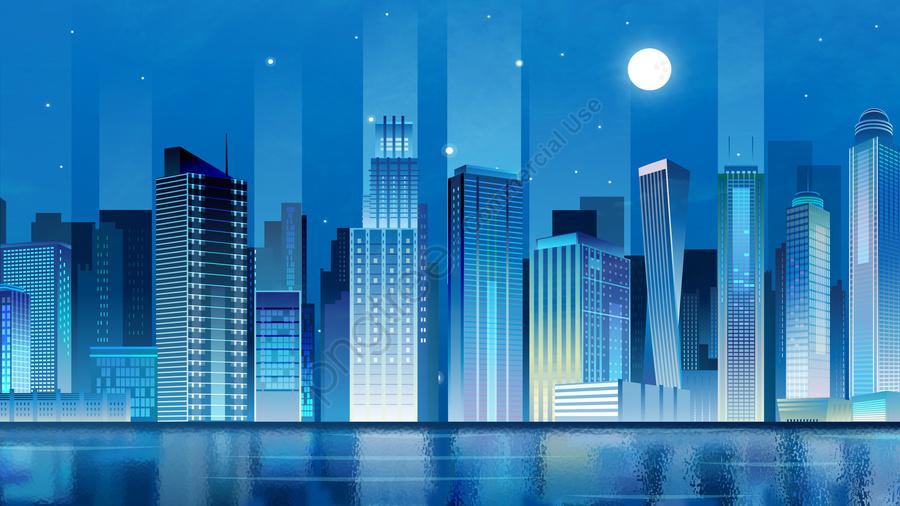 प्रौद्योगिकी शहर स्टीरियो चित्रण उच्च इमारत, इमारत, परिदृश्य, प्रौद्योगिकी llustration image