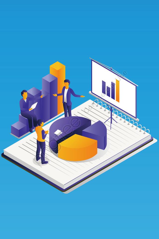 प्रौद्योगिकी भविष्य कार्यालय व्यापार आदमी, चार्ट, प्रौद्योगिकी, भविष्य llustration image