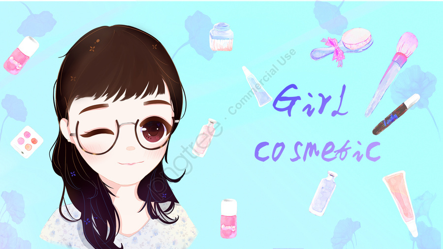 teenage girl makeups girl cosmetic, Cosmetic, Teenage Girl, Avatar llustration image