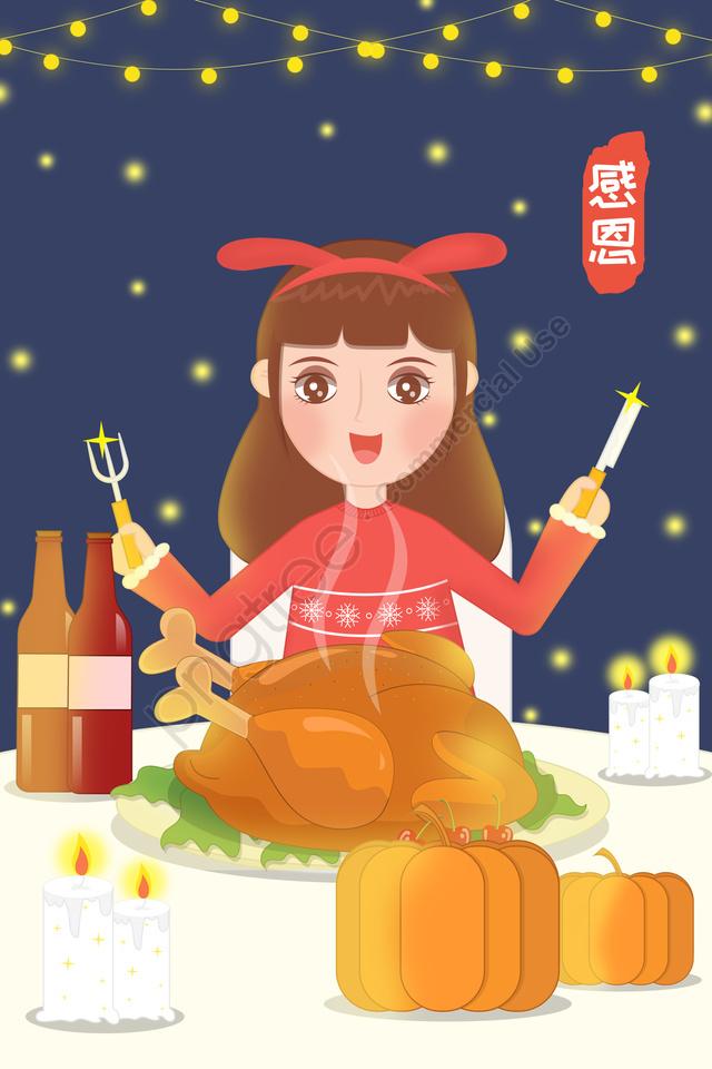 추수 감사절 감사합니다 , 잔치, 식품, 터키 llustration image