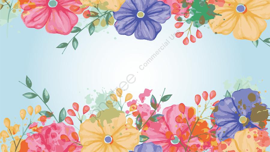 チロの花花の花の絵手描き, 招待カード, チロ花, フラワー llustration image