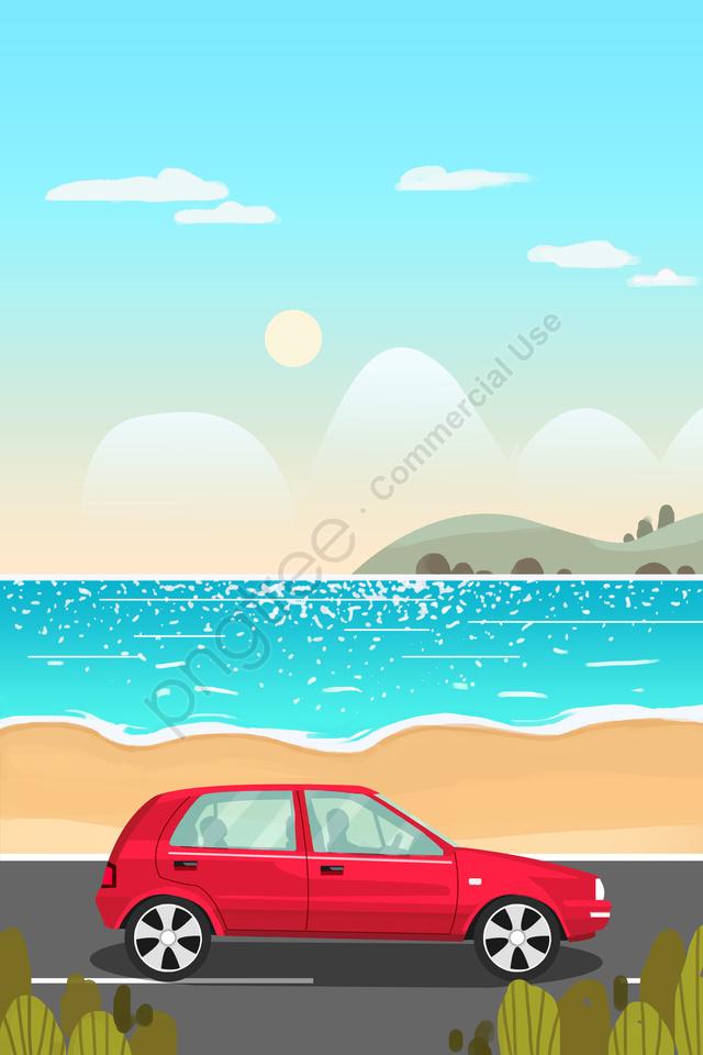 पर्यटन यात्रा छुट्टी यात्रा, लंबी छुट्टी, छुट्टी, समुंदर के किनारे का llustration image