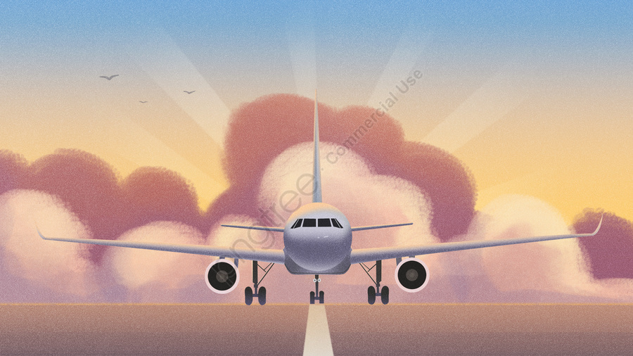Transportation Aircraft Landing Flight, Transportation, Aircraft, Landing llustration image