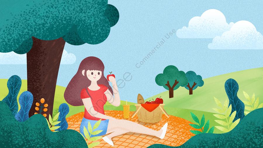 Travel Tourism Holiday Travel, Picnic, Illustration, Travel llustration image