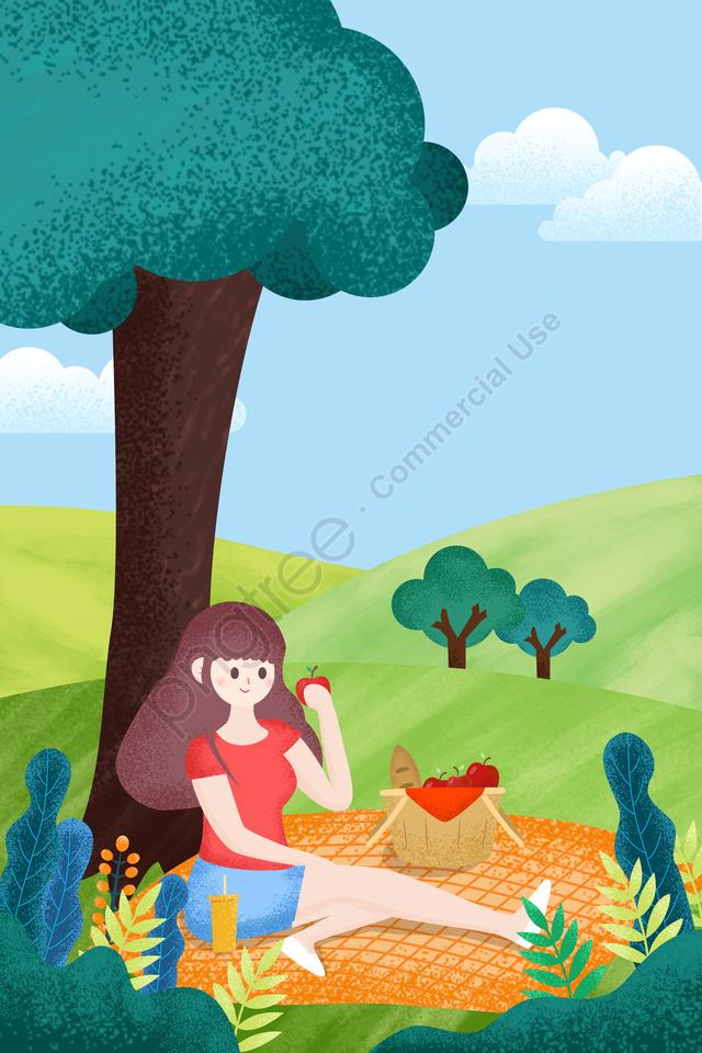 旅行観光休暇旅行, ピクニック, イラスト, 旅行 llustration image