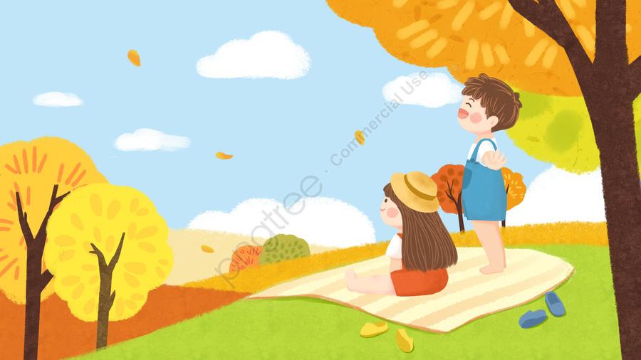二十四節氣秋天秋天秋天, 秋天的, 郊遊, 秋遊 llustration image