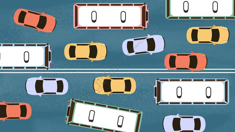 urban life early peak traffic congestion, Traffic Jam, Congested Vehicle, Vehicle llustration image