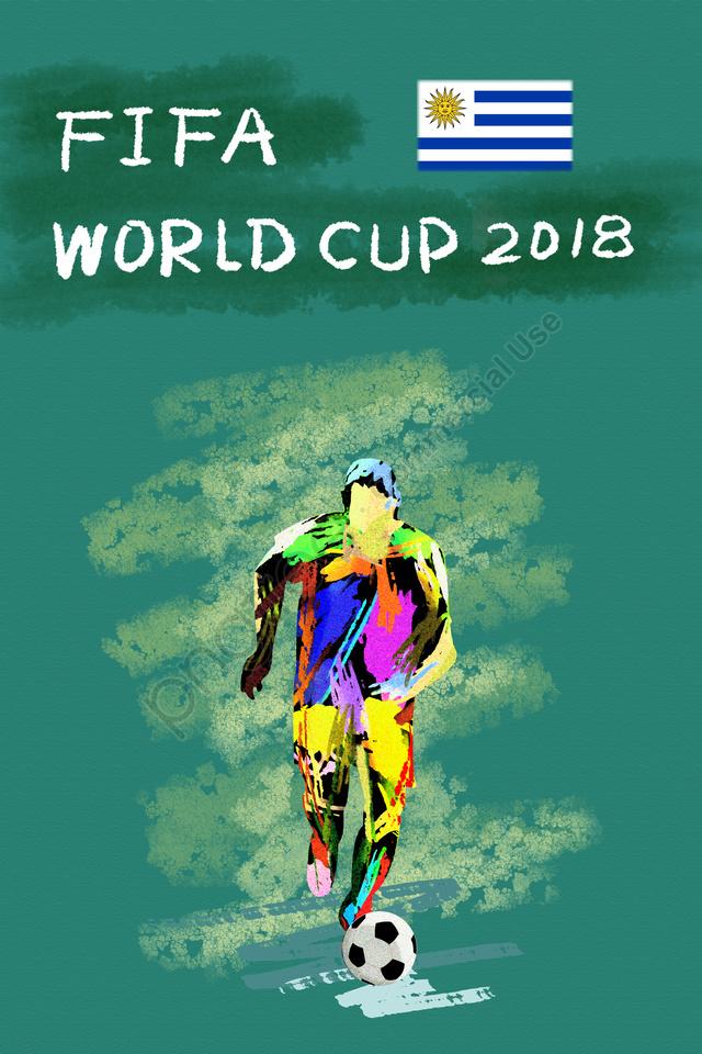 ウルグアイサッカーワールドカップ2018, Fifa, アスリート, プレイヤー llustration image