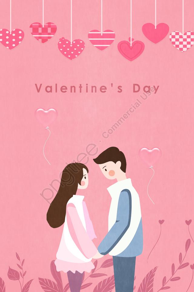 バレンタインデーカップルラブバルーン, バレンタイン・デー, カップル, 愛 llustration image