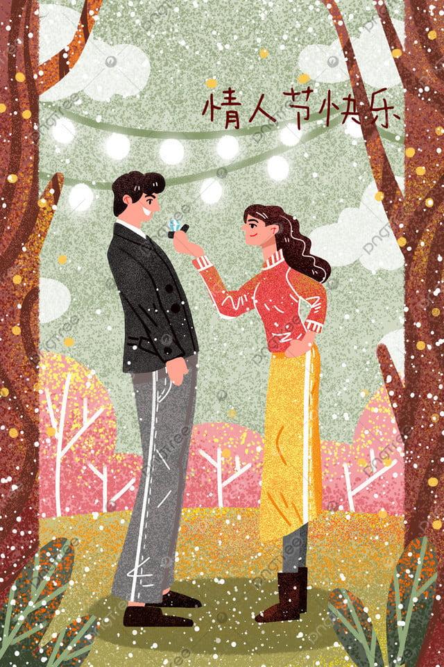 Valentines Day Illustration Couple Illustration Tanabata Illustration Wedding Illustration Valentines Day Material, Valentines Day Background, Valentines Day Elements, Wedding Background llustration image