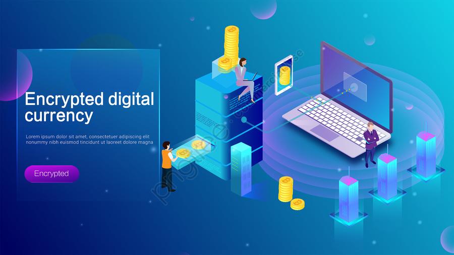 Moeda Virtual Criptografada Digital Moeda Blockchain Bitcoin, 2 5d, Tecnologia, Financeira llustration image