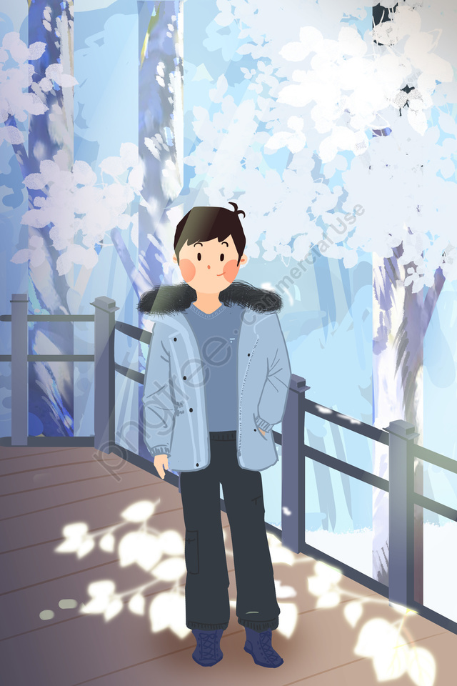 winter winter heavy snow light snow, Great Cold, Osamu, New Years llustration image