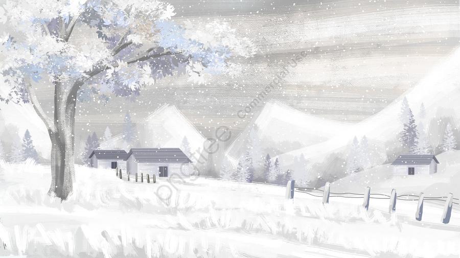 सर्दियों सर्दियों बर्फ दृश्य गहरी सर्दियों, भारी हिमपात, बर्फ, परिदृश्य llustration image