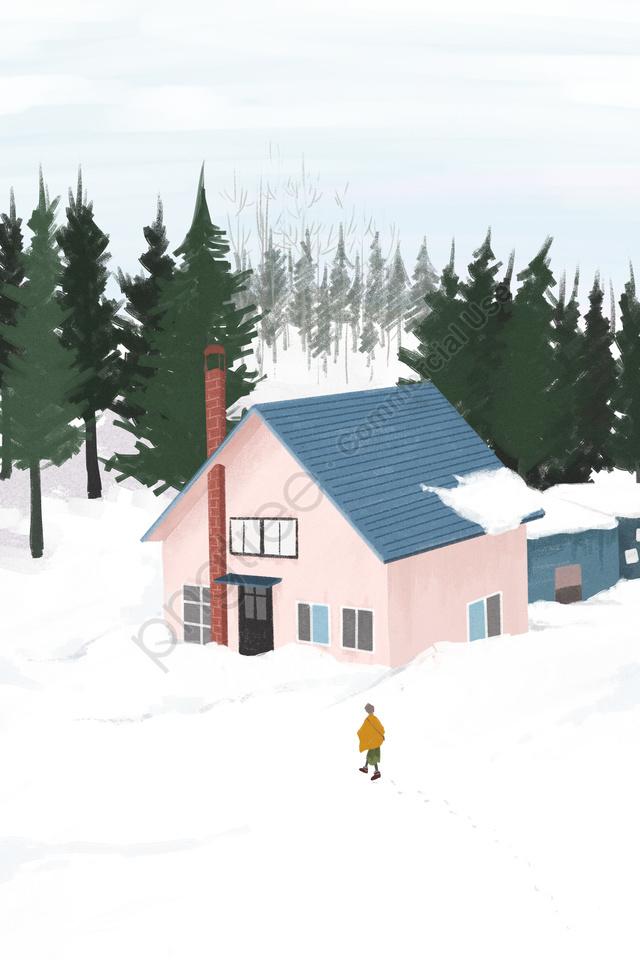冬天的冬天下雪的雪, 可愛的, 新鮮的, 簡單的 llustration image