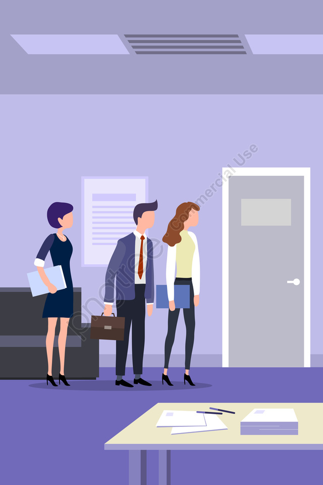 Workplace Interview Jobs White Collar, Staff, Competition, Wait llustration image