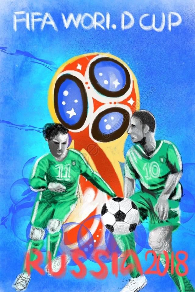 ワールドカップサッカー2018ワールドカップゲーム, モーション, プレイヤー, 人物 llustration image