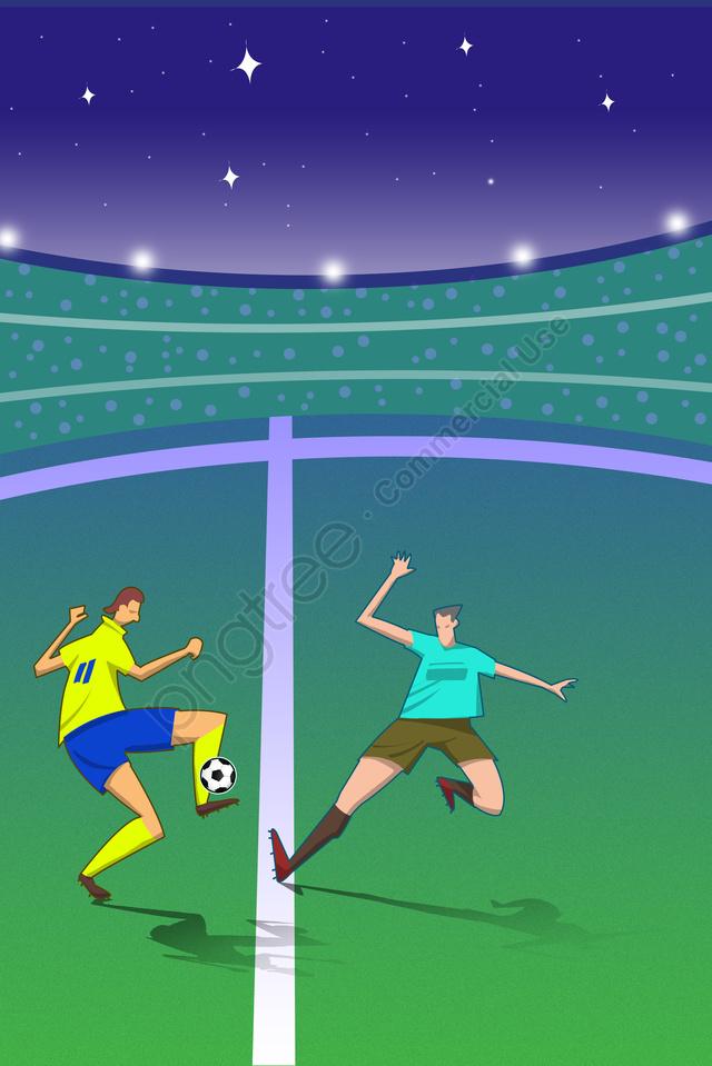 ワールドカップフットボールの試合の世界, カップ, 2018年, フットボール llustration image