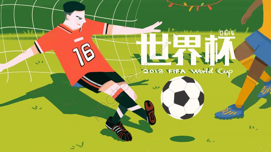 World Cup Ngôi Sao Bóng đá Cổ Vũ, 二千零一十八, Vận động Viên., Cạnh Tranh llustration image