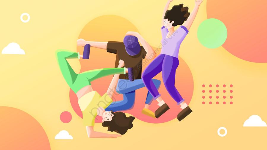 ユースフェスティバル54ユースフェスティバルユースデーモーション, 青年, ストリートダンス, ダンス llustration image