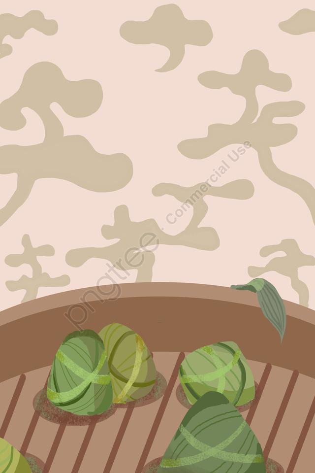 粽子龍舟節優雅簡約, 烟, 家常, 節日 llustration image