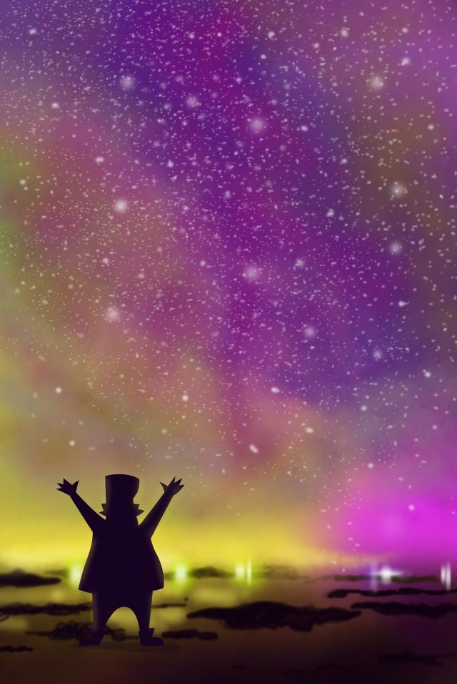 星空の背景 璀璨 星空 背景イメージ まぶしい 星 カラフルな 夜空 銀河 海辺 夜 しあわせ星空の背景  璀璨  星空 PNGおよびPSD イラスト画像