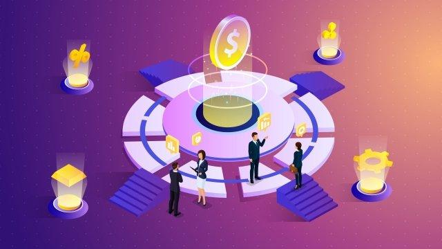 2 datos financieros empresariales 5d Imagen de ilustración Imagen de ilustración