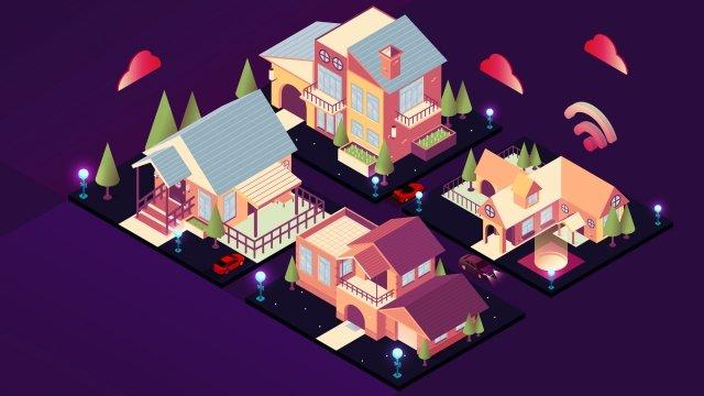 2 5d 도시 건물 삽화 소재 삽화 이미지
