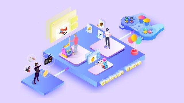 2 5 डी भविष्य के खेल मनोरंजन चित्रण छवि चित्रण छवि